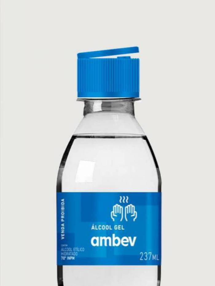 Ambev produzirá álcool em gel para doar a hospitais públicos