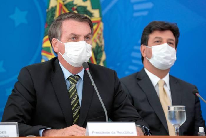 Coletiva de imprensa de Jair Bolsonaro