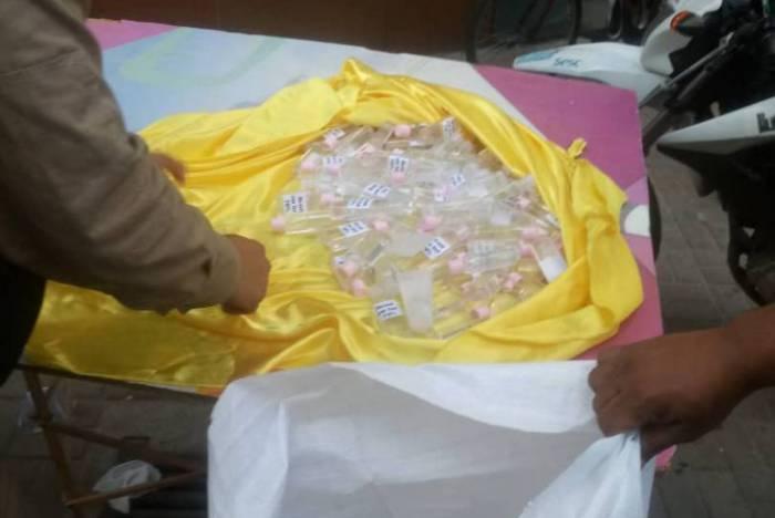 Operação apreende mais de 300 frascos de álcool em gel no Centro