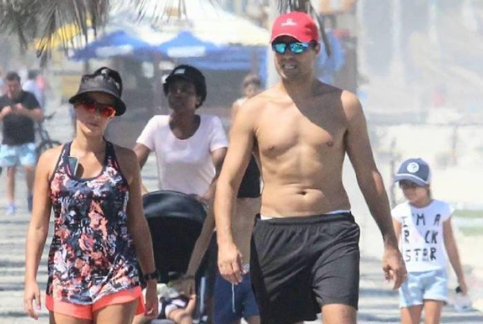 Ricardo Pereira passeando com a família
