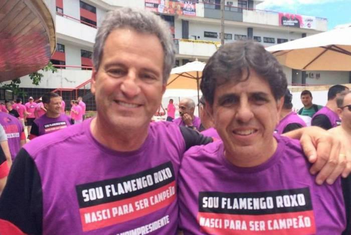 Mauricio Gomes de Mattos ao lado do presidente Rodolfo Landim