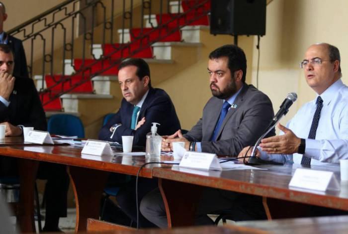 Witzel, Cláudio Castro e André Moura debateram a crise provocada pela Covid-19 com a bancada federal