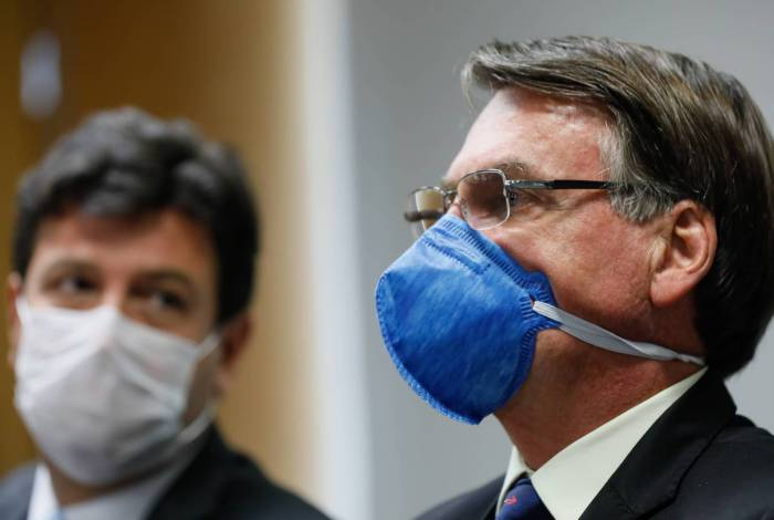 Presidente da República, Jair Bolsonaro e ministro da Saúde, Henrique Mandetta