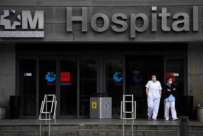 Hospitais na Espanha estão cheios por conta da pandemia do coronavírus