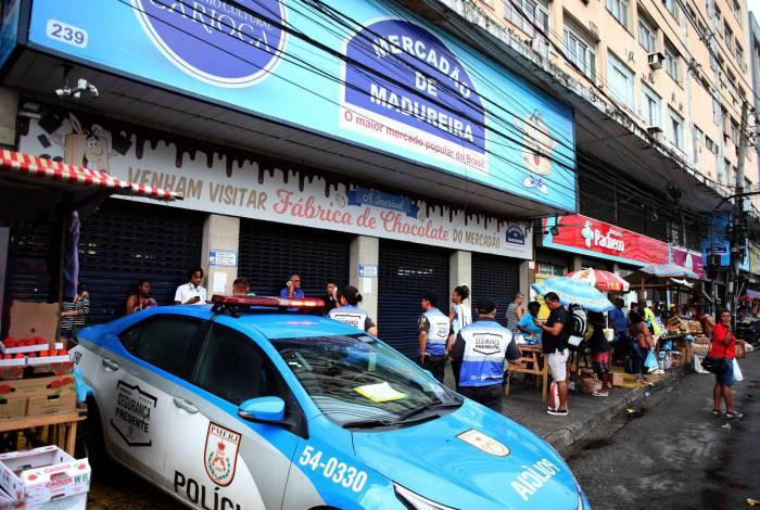 Rio,21/03/2020-MADUREIRA,Mecadao de Madureira fechado pela Policia Militar ,na foto.mecadao fechado .Foto: Cleber Mendes/Agência O Dia