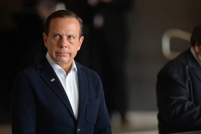 João Doria, governador de São Paulo, continuará com as medidas de distanciamento social para conter a propagação do coronavírus