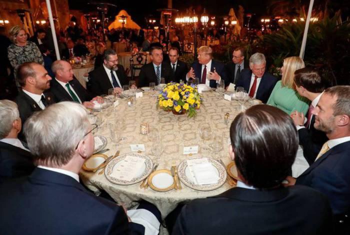 Presidente da República Jair Bolsonaro durante Jantar oferecido pelo Presidente dos Estados Unidos da América