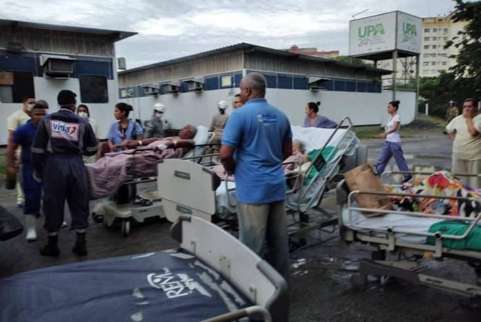 Pacientes foram levados para o Hospital Estadual Alberto Torres