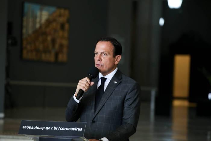 Governador do Estado de São Paulo, João Doria, durante Coletiva de imprensa sobre coronavírus  Local: São PauloSP. Data: 2332020  Foto: Governo do Estado de São Paulo