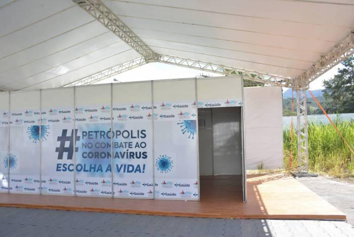 Mais um ponto de apoio está sendo preparado para atender à população de Petrópolis