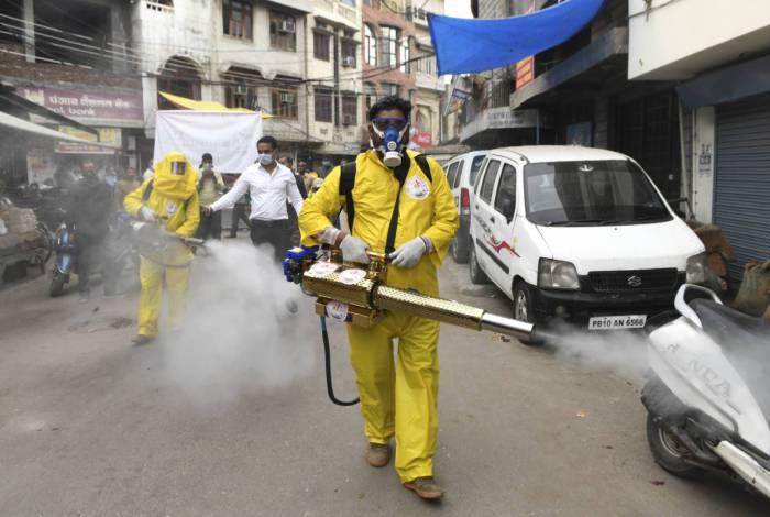 Coronavírus avança na Índia