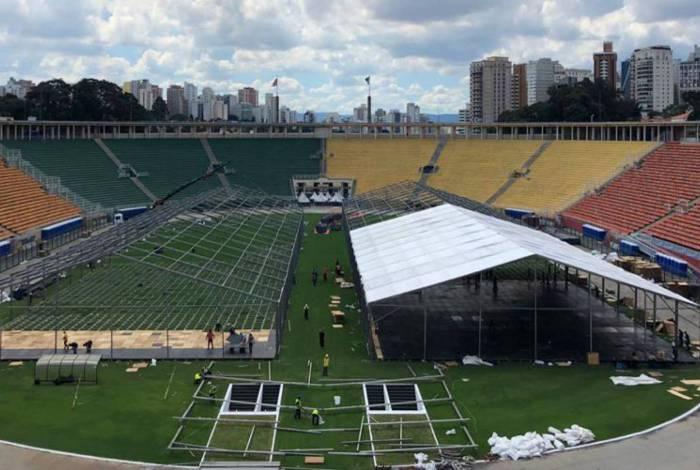 Pacaembu e Anhembi estão sendo utilizados para atender pacientes com o novo coronavírus em São Paulo