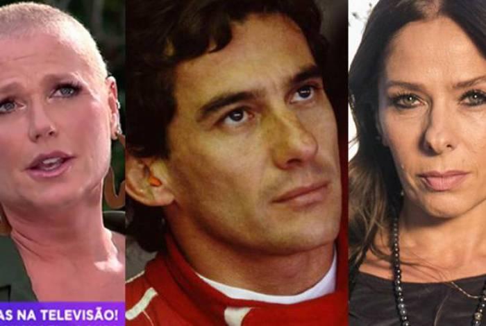 Xuxa Meneghel, Ayrton Senna e Adriane Galisteu