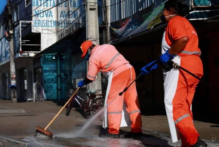 Higienização visa combater a disseminação do vírus pela Cidade