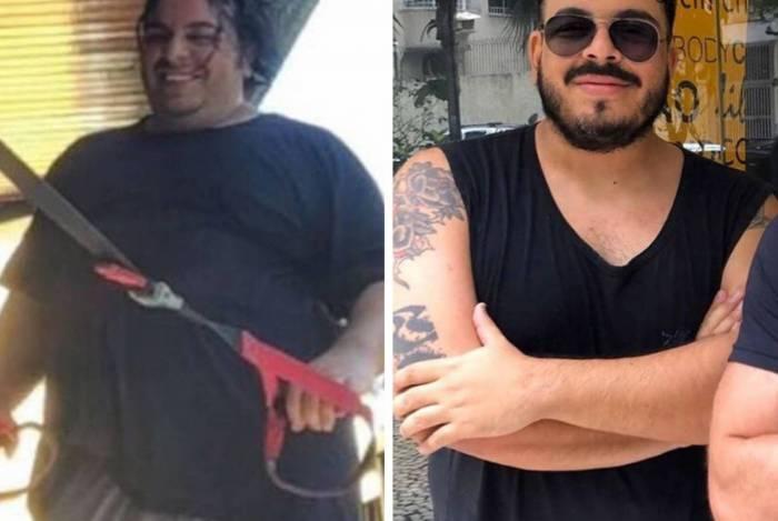 Antes e depois: Luis Lobianco mostra seu emagrecimento nas redes sociais