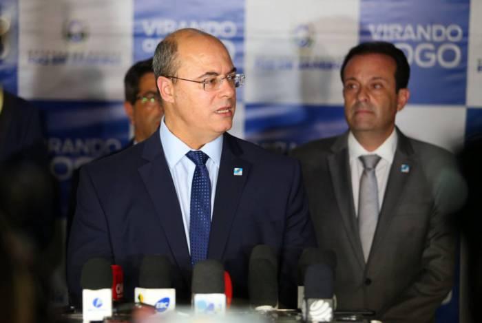 Servidores entregarão ofício à Casa Civil, comandada por André Moura (à direita), pedindo reunião com Witzel