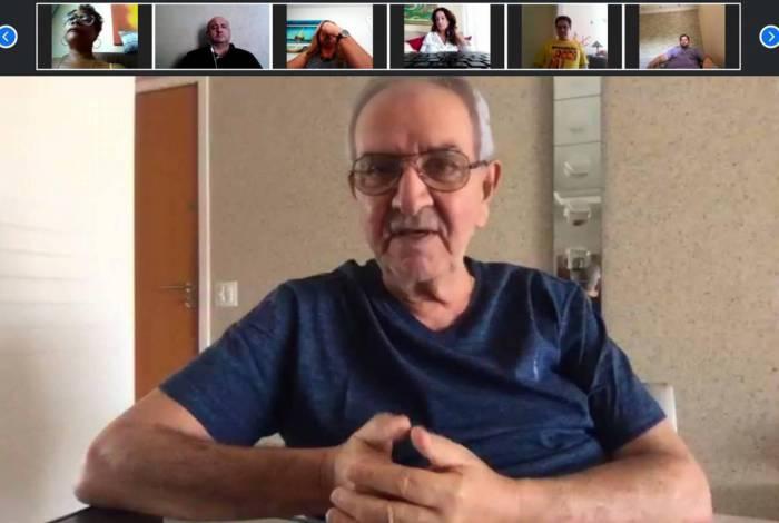 Reunião entre servidores administrativos da prefeitura do Rio e o presidente da Câmara, Jorge Felippe