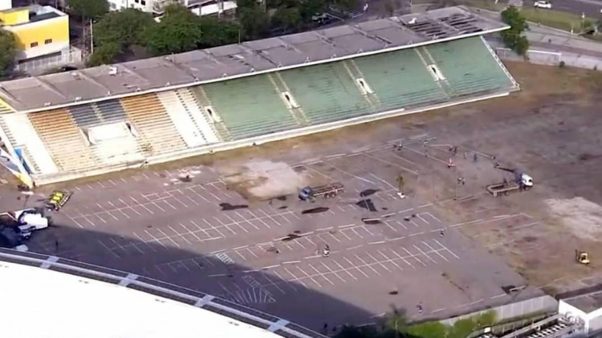 Unidade está sendo montada na área do antigo Estádio de Atletismo Célio de Barros