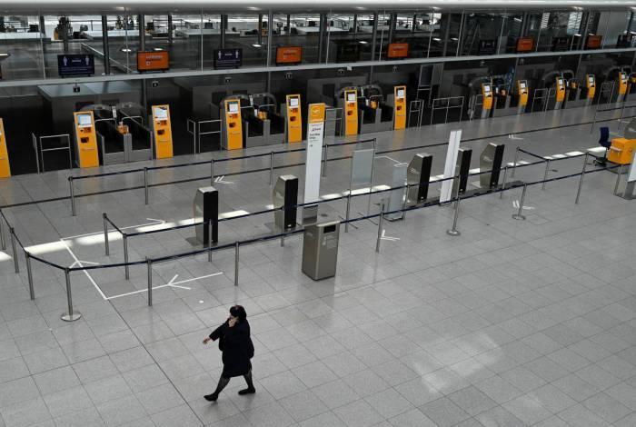Aeroporto vazio na Alemanha