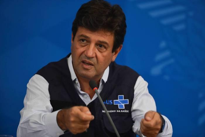 Ministro da Saúde, Luiz Henrique Mandetta, durante coletiva de imprensa sobre o enfrentamento ao novo coronavirus