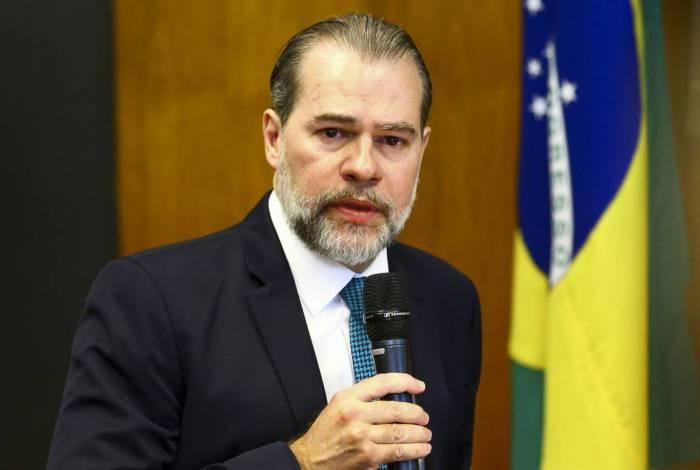 O presidente do STF, Dias Toffoli