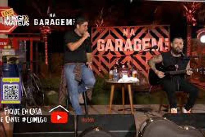Jorge e Mateus fazem live