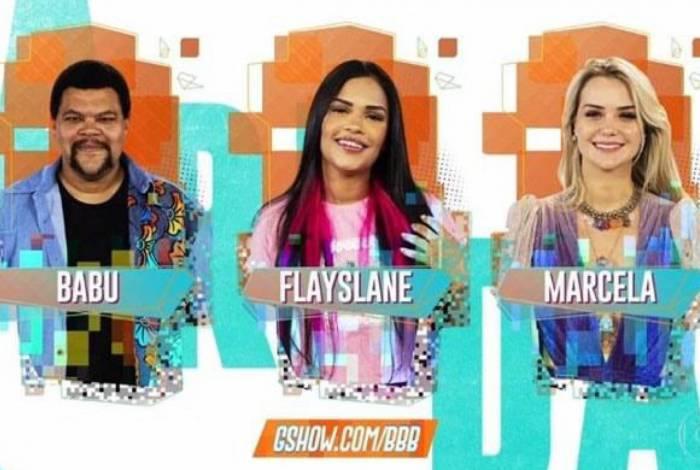Babu, Flay e Marcela no paredão