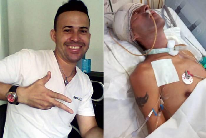 Lúcio dos Santos Pires foi covardemente agredido na cabeça no dia 30 de janeiro
