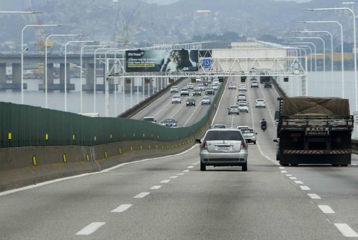 Movimentação na ponte Rio-Niterói