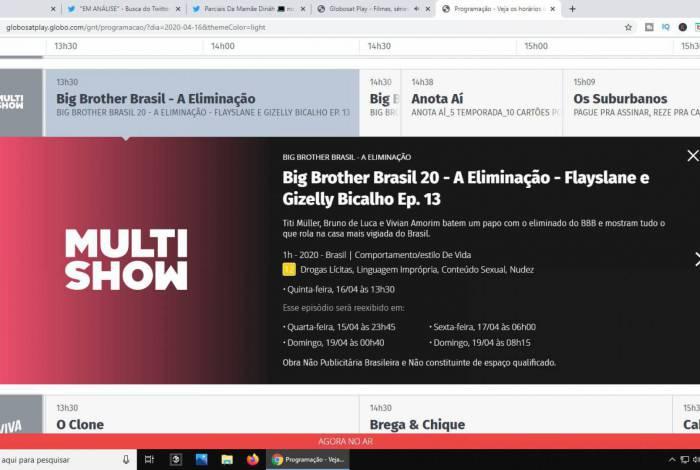 Gizelly já está eliminada segundo plataforma da Globo
