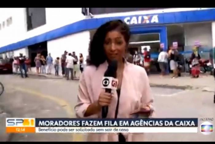 Equipe de reportagem da Globo