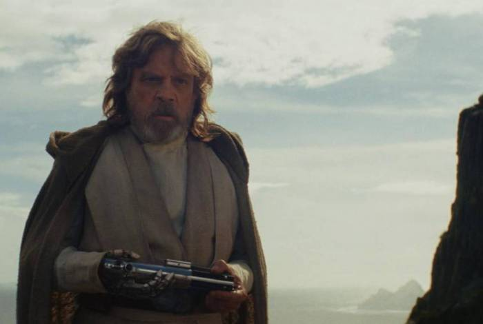 Mark Hamill em cena de 'Star Wars': 'Fora, Gizelly'