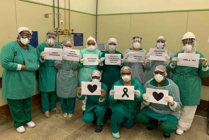 Profissionais de Saúde fizeram homenagem a Jorge Alexandre