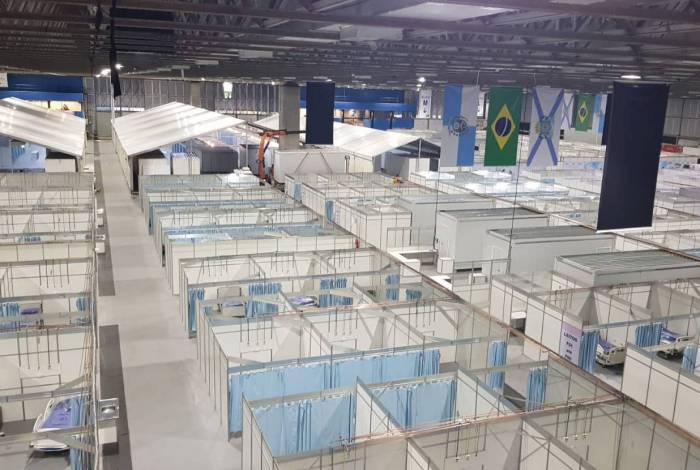 Hospital de campanha do Riocentro conta com 100 leitos de UTI e outros 400 de clínica médica