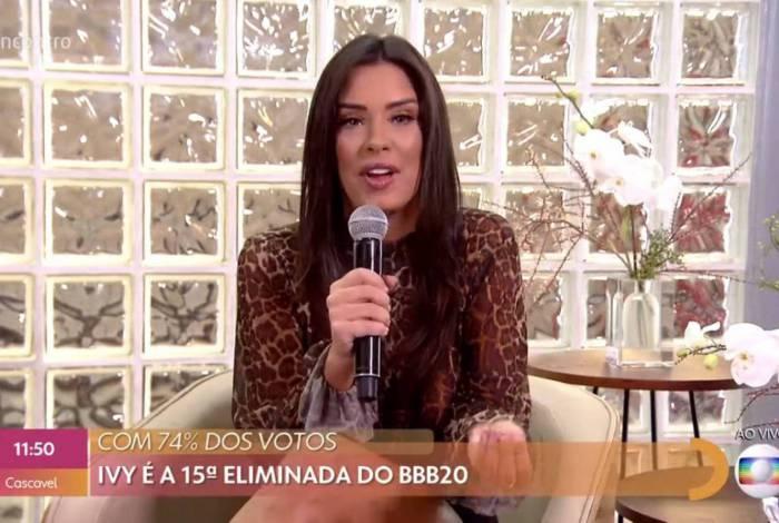 Ivy participa do 'Encontro com Fátima Bernardes'