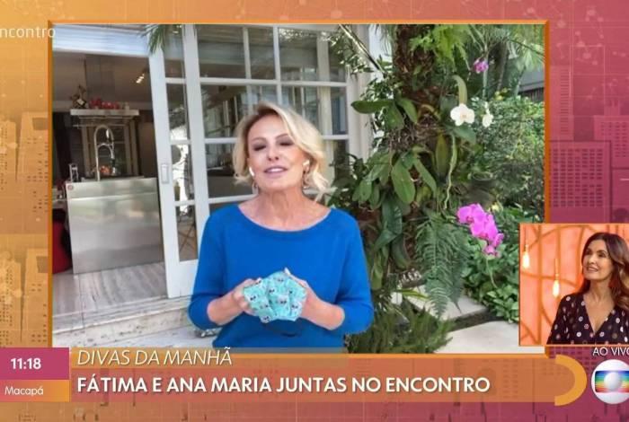 Ana Maria Braga e Fátima Bernardes no 'Encontro'