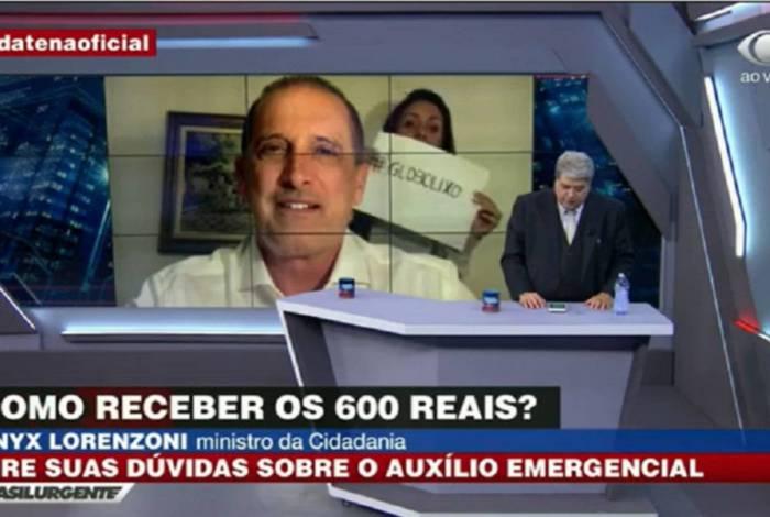 Datena reprisa quatro vezes protesto contra a Globo em víde de Onyx Lorenzoni