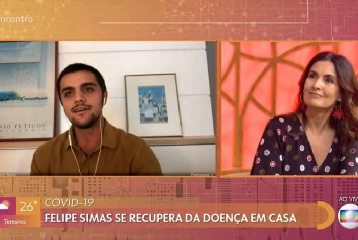 Felipe Simas participa do 'Encontro'