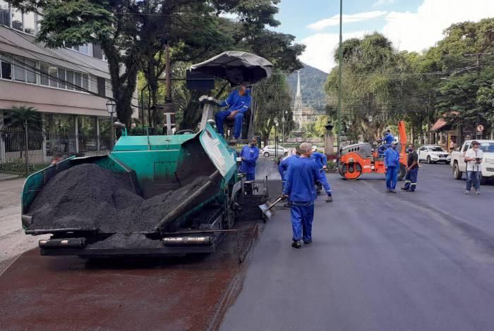 O serviço teve início no último dia 7, com a retirada do asfalto antigo na Monsenhor Bacelar