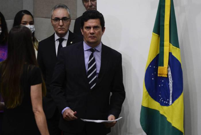 Sergio Moro chega à coletiva de imprensa para anunciar demissão do cargo de ministro da Justiça e Segurança Pública