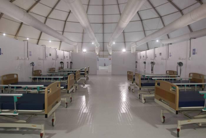 Hospital de campanha no Leblon, Zona Sul do Rio