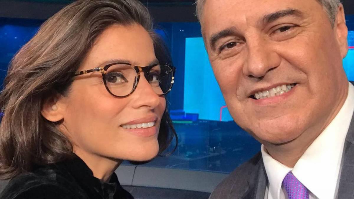 Renata Vasconcellos e Flávio Fachel