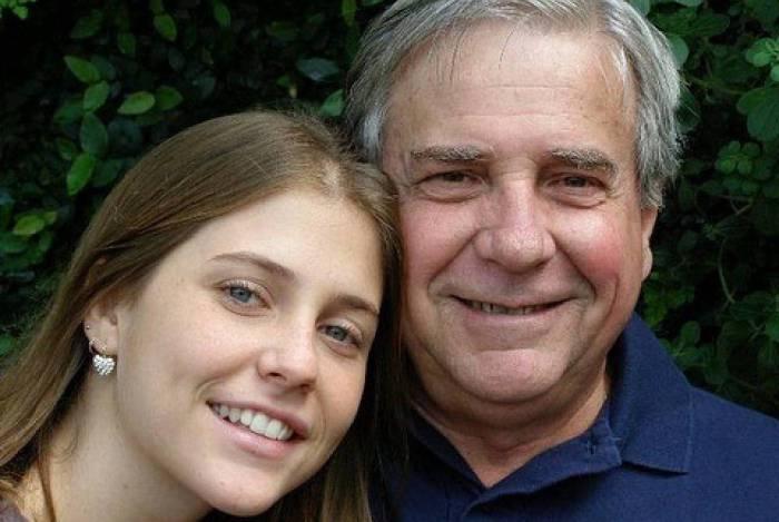 Christiana Ubach e o pai