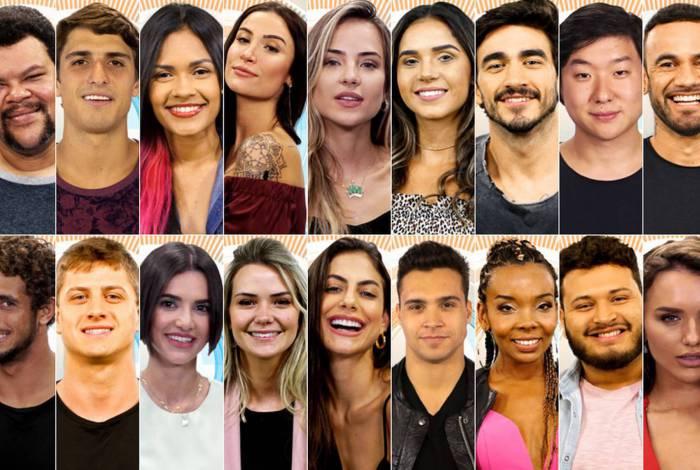 Participantes da 20ª edição do 'BBB 20'