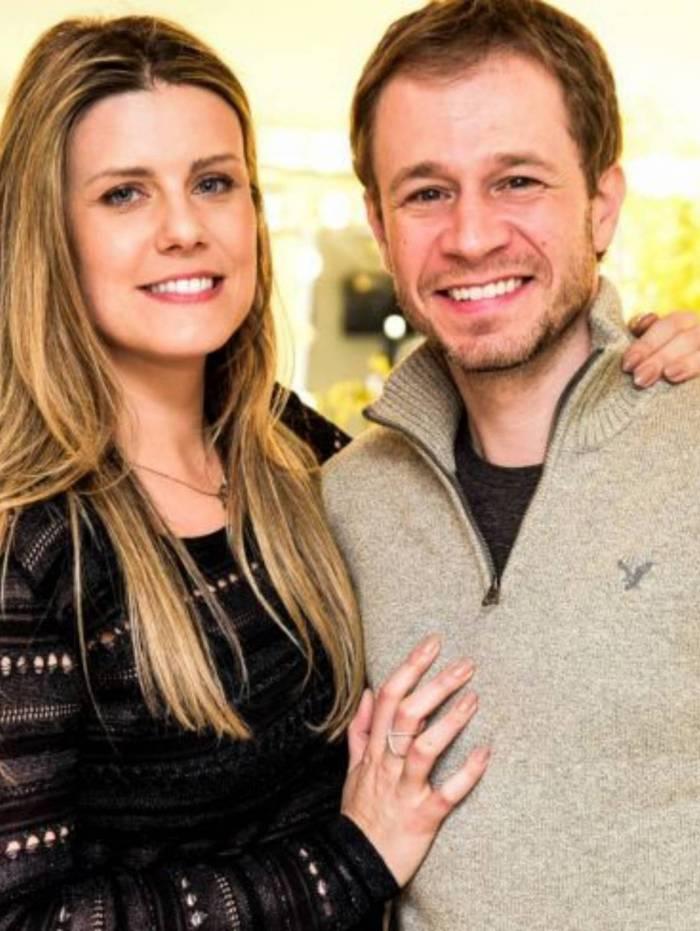 Tiago Leifert e sua mulher Daiana