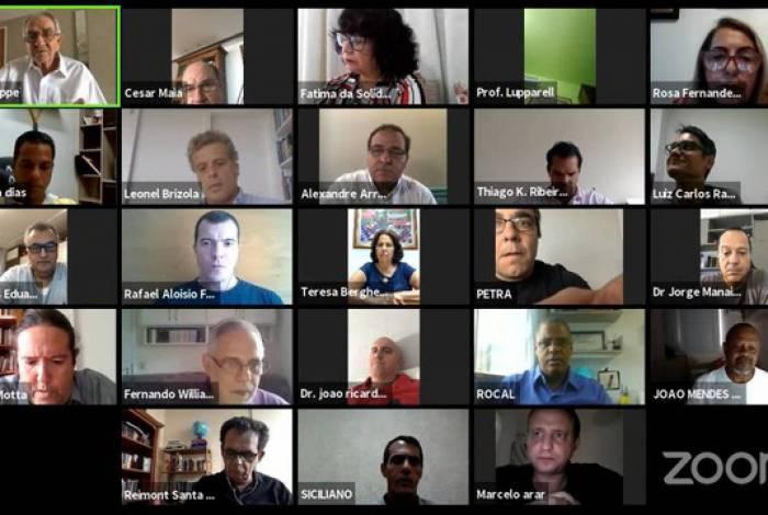 Sessão virtual de vereadores do Rio de Janeiro