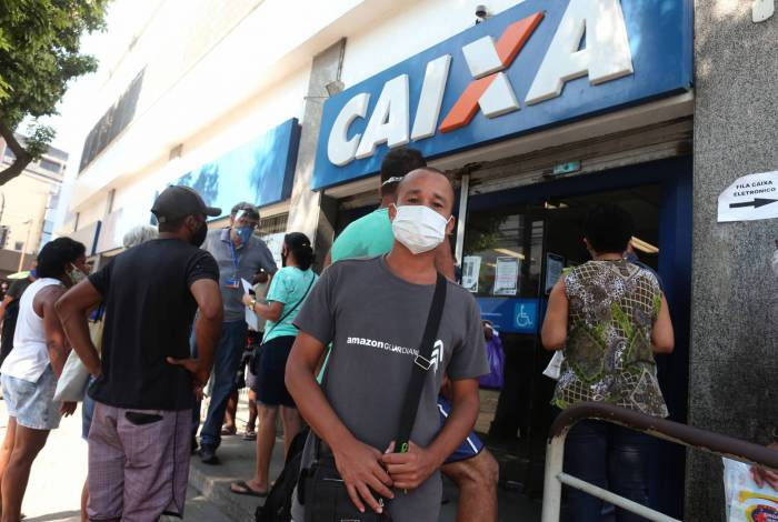 Tiago Cardoso de Franca, conseguiu receber seu auxílio na agência de Madureira, na Zona Norte do Rio