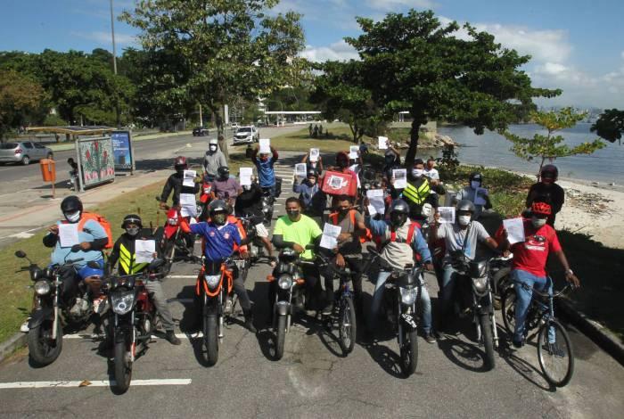 Motoboys de Niterói em ação por melhores condições de trabalho