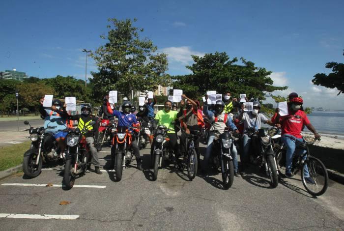 Motoboys de Niterói que trabalham com Delivery, reivindicam melhores condições de trabalho