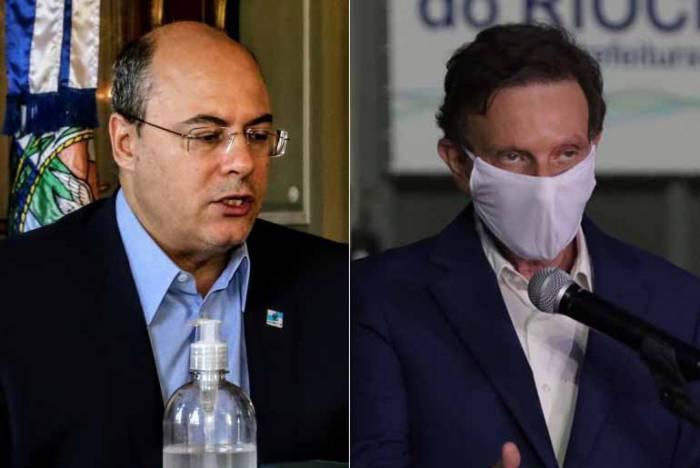 O governador Wilson Witzel e o prefeito Marcelo Crivella